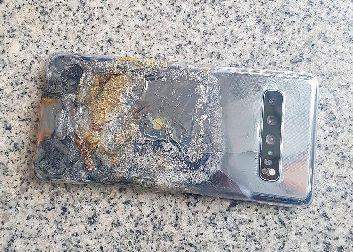 Déjà vu para Samsung: un Samsung Galaxy S10 5G explota sin motivo aparente