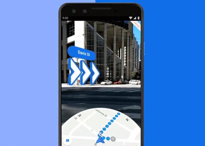 Google Maps commienza a desplegar la realidad aumentada