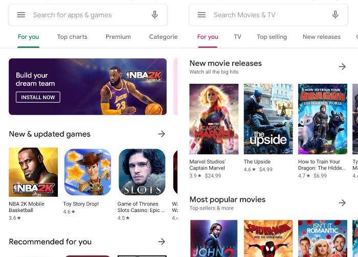 Google Play renueva por completo su interfaz: así puedes probarla