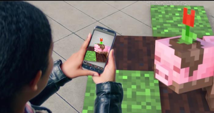 Microsoft muestra un vídeo de Minecraft en realidad aumentada
