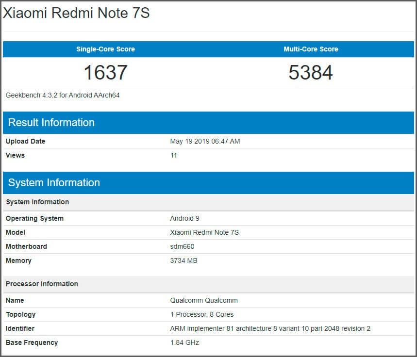 Xiaomi Redmi Note 7S es presentado de manera oficial