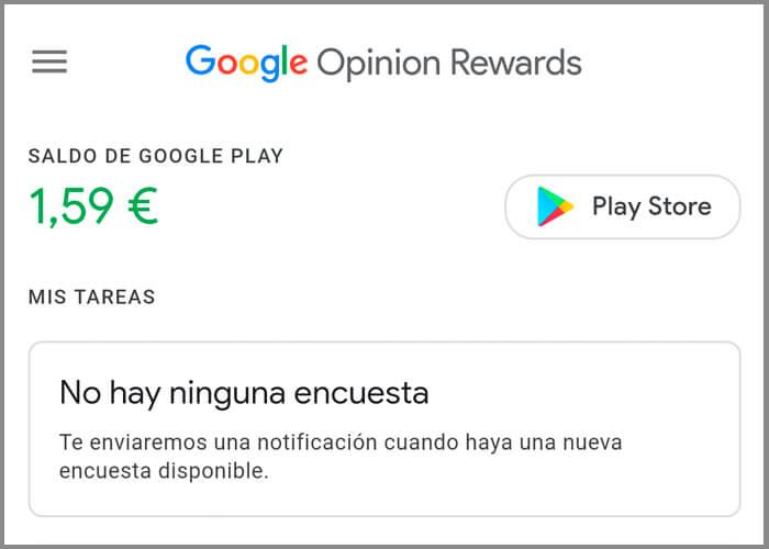 Google Opinion Rewards te avisará cuando tu dinero esté a punto de caducar
