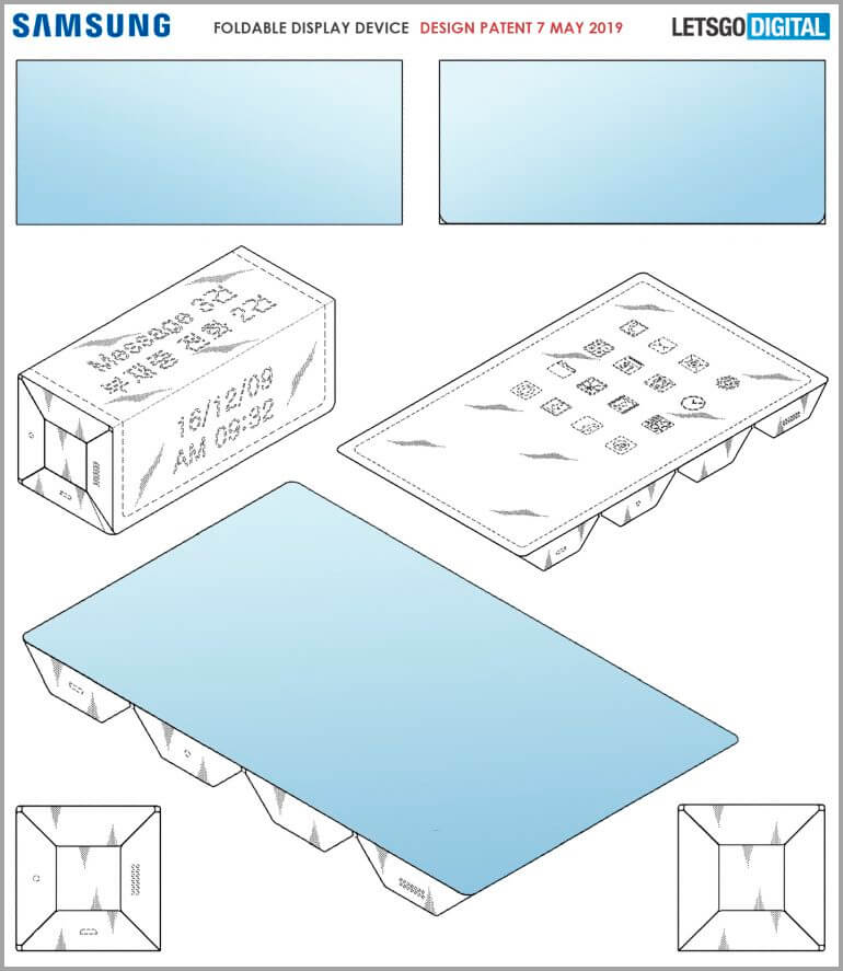 Samsung plegable patente