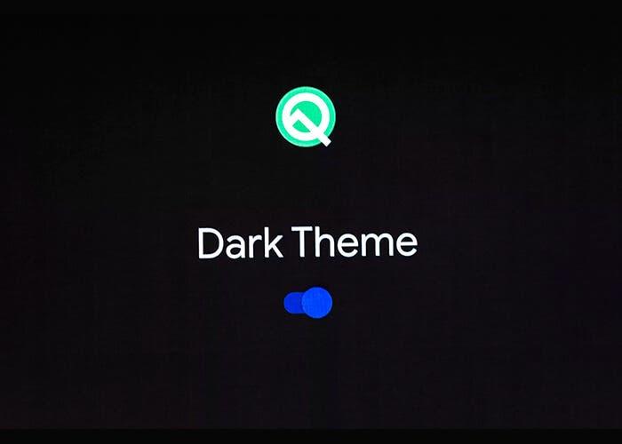 La última beta de Android Q permite forzar el modo oscuro en cualquier app