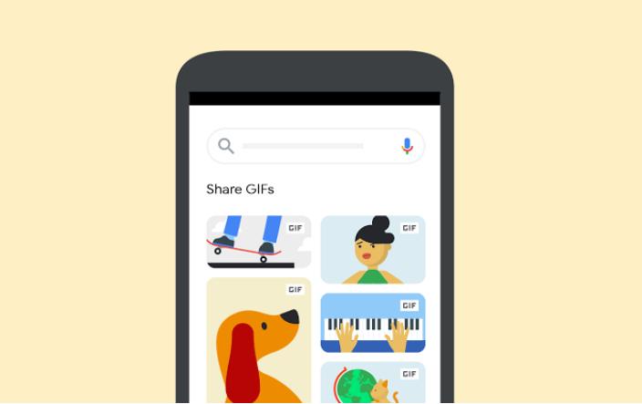 Google ya permite compartir GIFs desde el buscador con otras apps