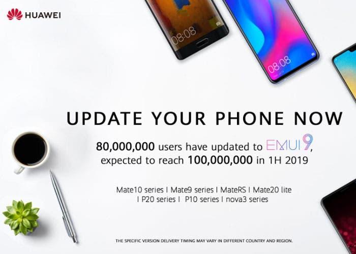EMUI 9.0 llega de forma oficial a siete nuevos dispositivos Huawei