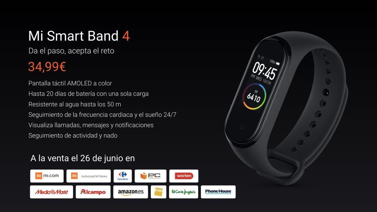 lo último 1e8fc 0af46 Dónde comprar la Xiaomi Mi Band 4 en España con garantía y ...