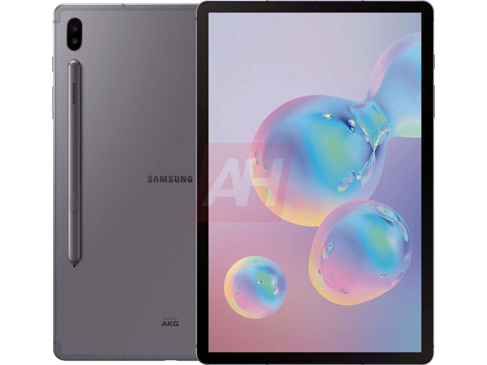 Samsung Galaxy Tab S6 se muestra en renders