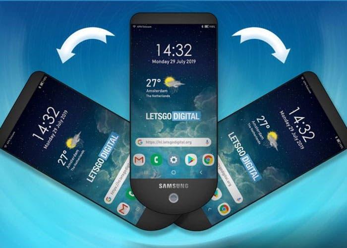Samsung patenta un móvil con tres pantallas desplegables