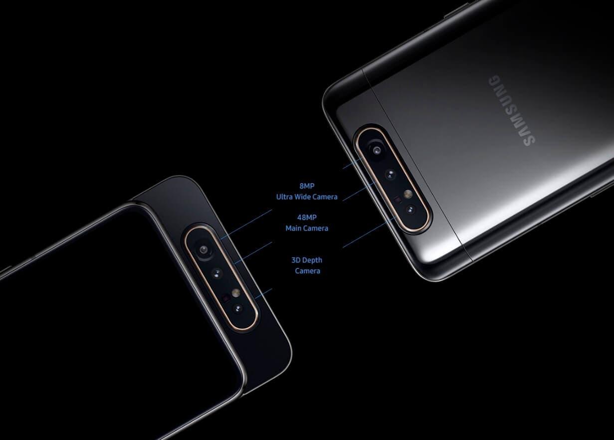 Samsung Galaxy A80 cámaras