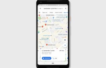 Google Maps ya muestra información sobre las estaciones de bicis