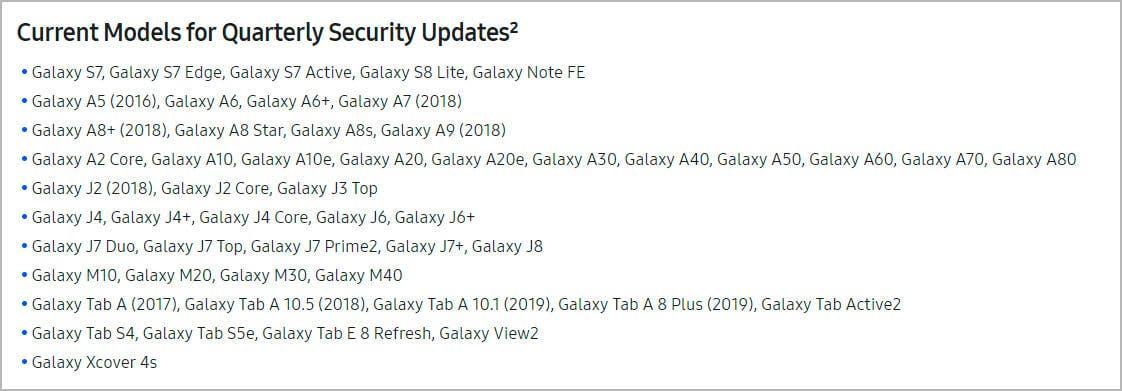 Samsung Galaxy S7 actualizaciones