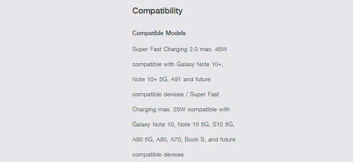 Cargador compatible con el Galaxy A90 5G