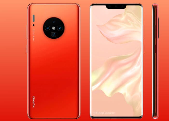 El Huawei Mate 30 se deja ver en imágenes reales. Tendrá un notch más pequeño