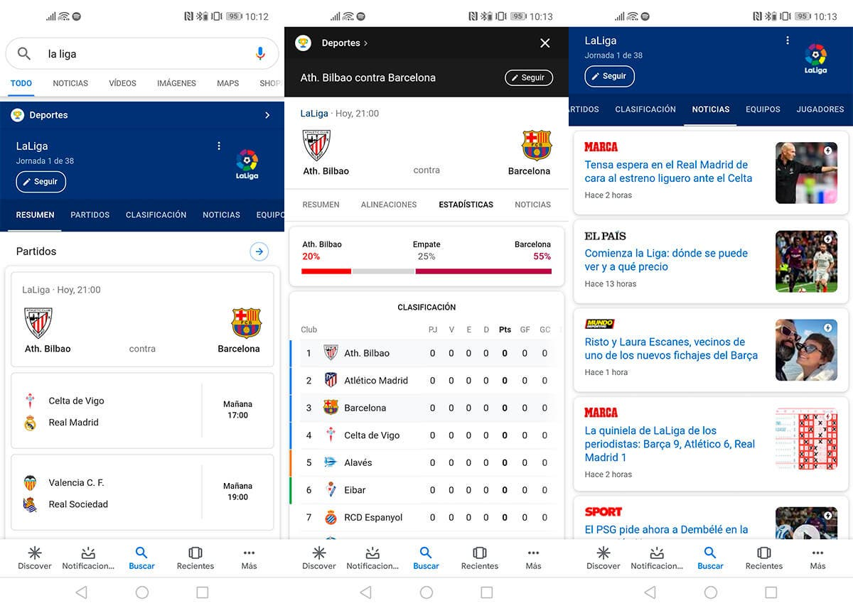 La Liga en Google