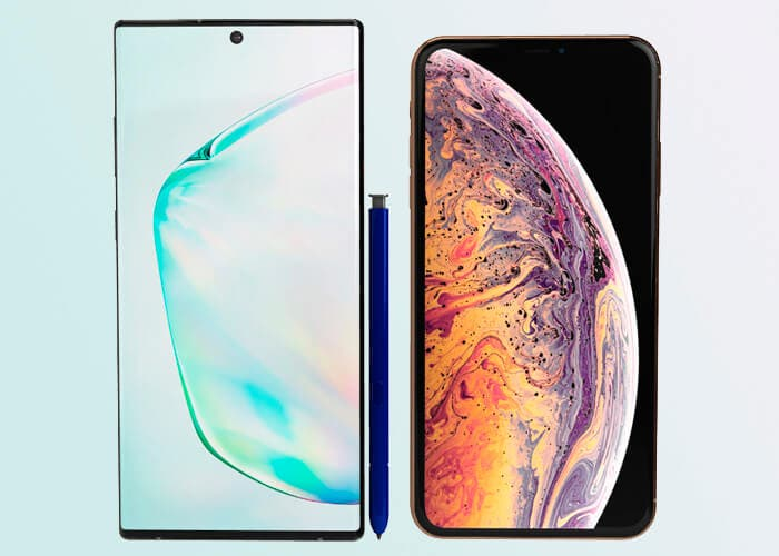 Así puedes comparar el tamaño del Samsung Galaxy Note 10 con su competencia
