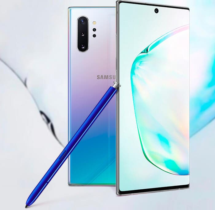 No, el Samsung Galaxy Note 10 no es de acero inoxidable