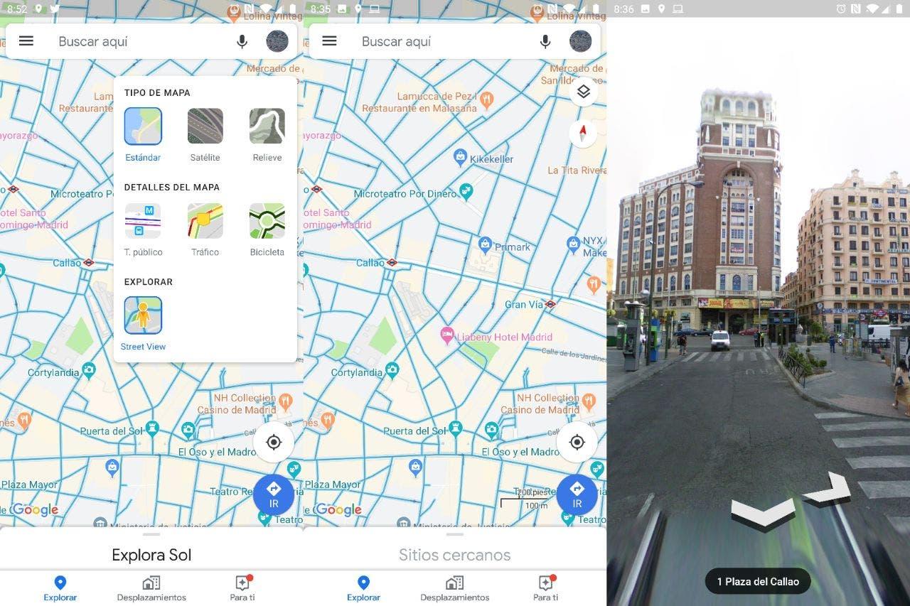 Google Maps mejora la integración de Street View con una