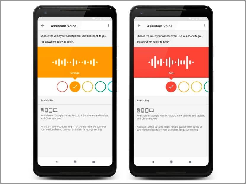 Voces de Google Assistant