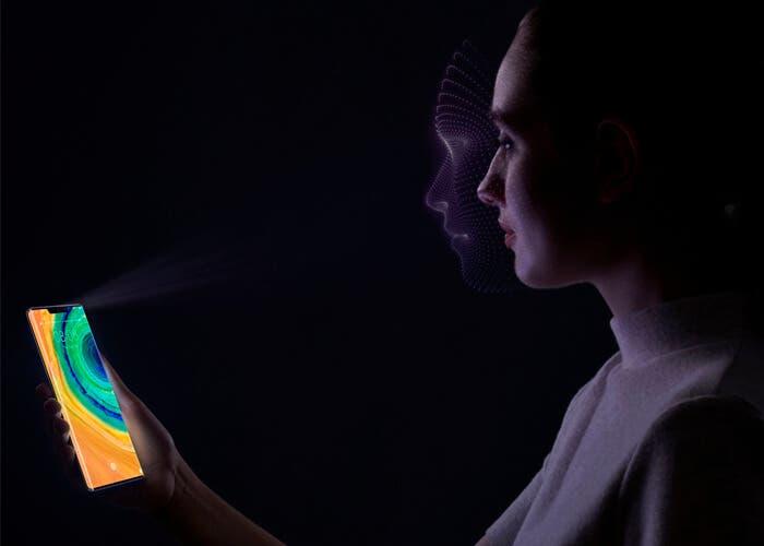 reconocimiento facial Huawei Mate 30 Pro