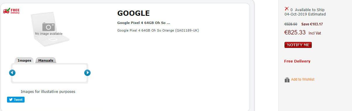 Precio Google Pixel 4