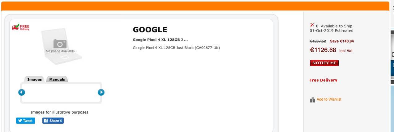 Precio Google Pixel 4 XL