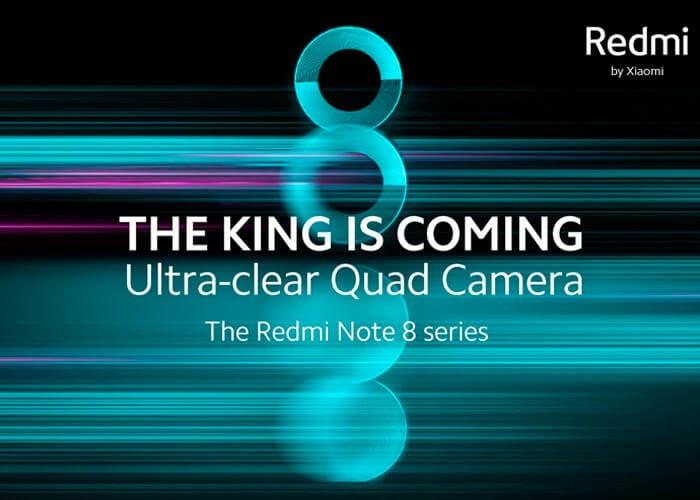 Los Redmi Note 8 serán presentados de forma global dentro de poco
