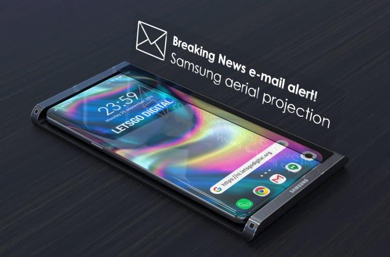 Samsung patenta un dock para mostrar hologramas e interactuar con ellos