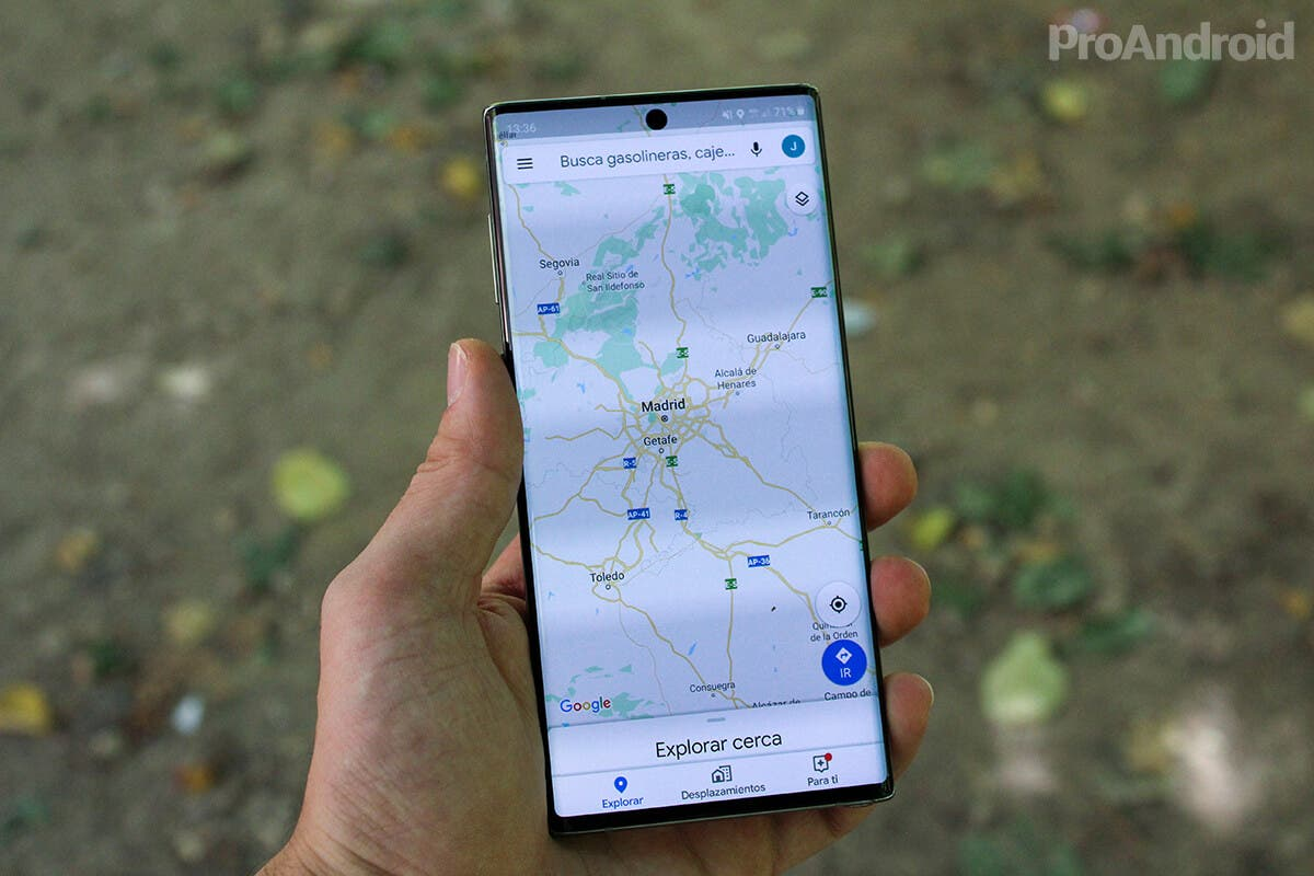 Google Maps Samsung Galaxy Note 10