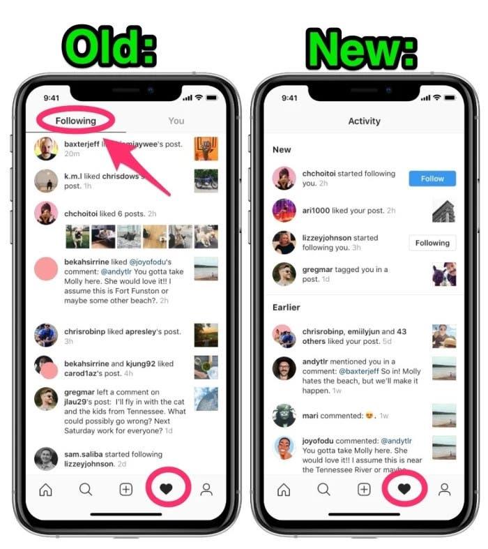 Instagram eliminó función que permite ver la actividad de los contactos