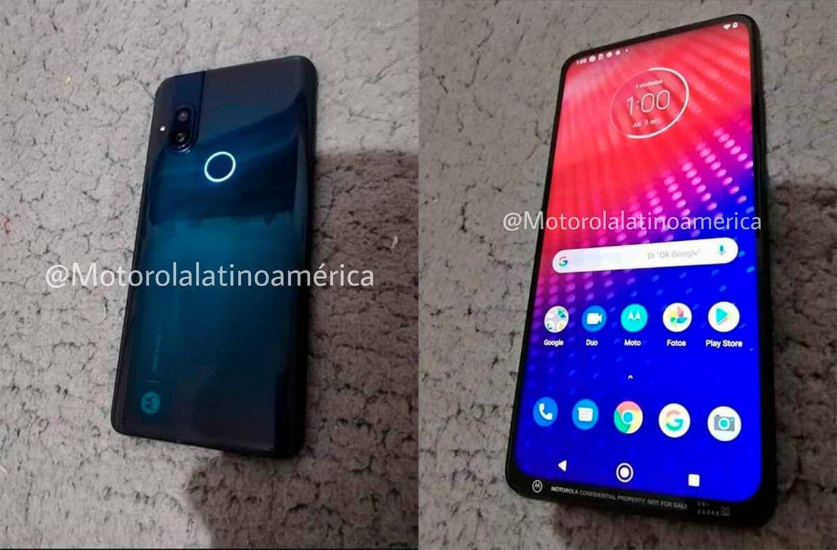 Motorola con cámara emergente