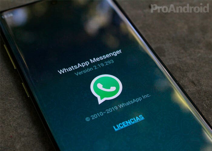 WhatsApp en el Galaxy Note 10