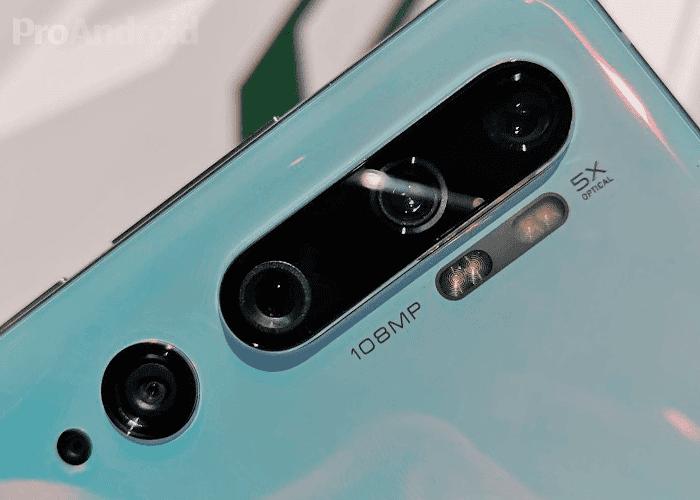 Cámara Xiaomi Mi Note 10