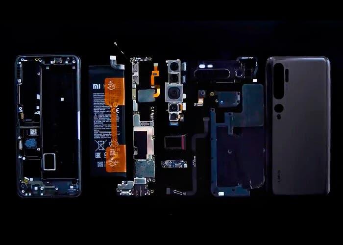 Así es el interior del Xiaomi Mi Note 10: diseño modular para una reparación más sencilla