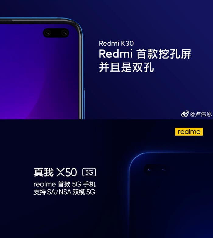 Realme X50 5G vs Redmi K30