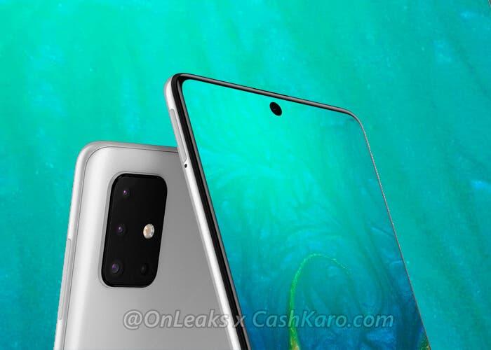 El Samsung Galaxy A71 se filtra en renders de alta calidad