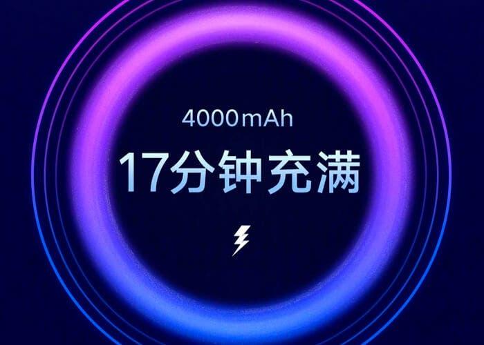 Xiaomi ya tiene lista su carga rápida de 100W: 4.000 mAh en 17 minutos