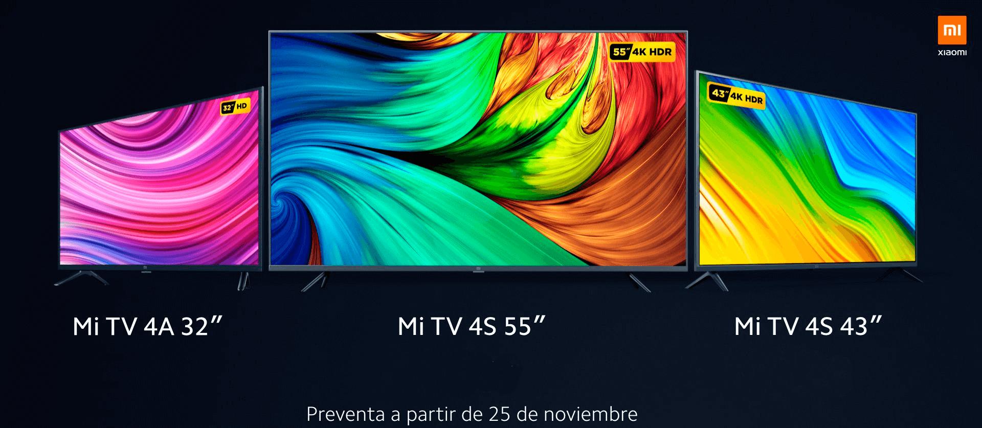 Xiaomi Mi TV 4A y 4S