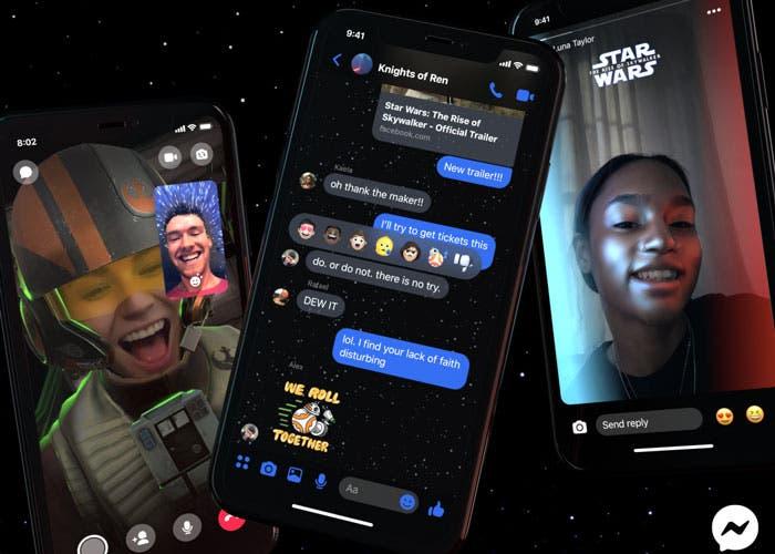 Facebook Messenger incluye nuevos filtros, temas y stickers de Star Wars ¡Ya puedes probarlos!
