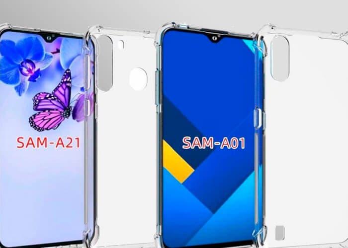 El Samsung Galaxy A21 y el A01 se filtran en imágenes gracias a un fabricante de fundas
