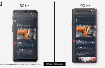 OnePlus muestra la diferencia entre sus pantallas de 60Hz y 120Hz