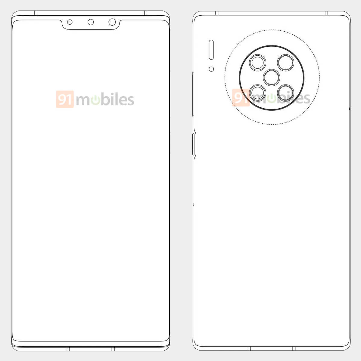 Huawei Mate 40 Pro patente