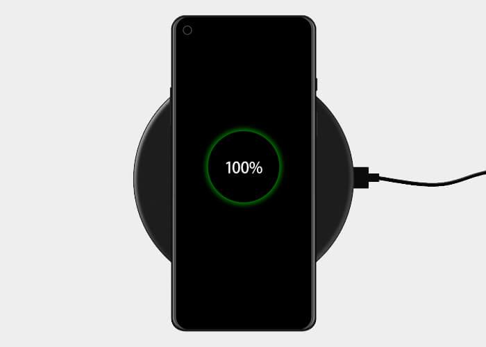 OnePlus 8 carga inalámbrica