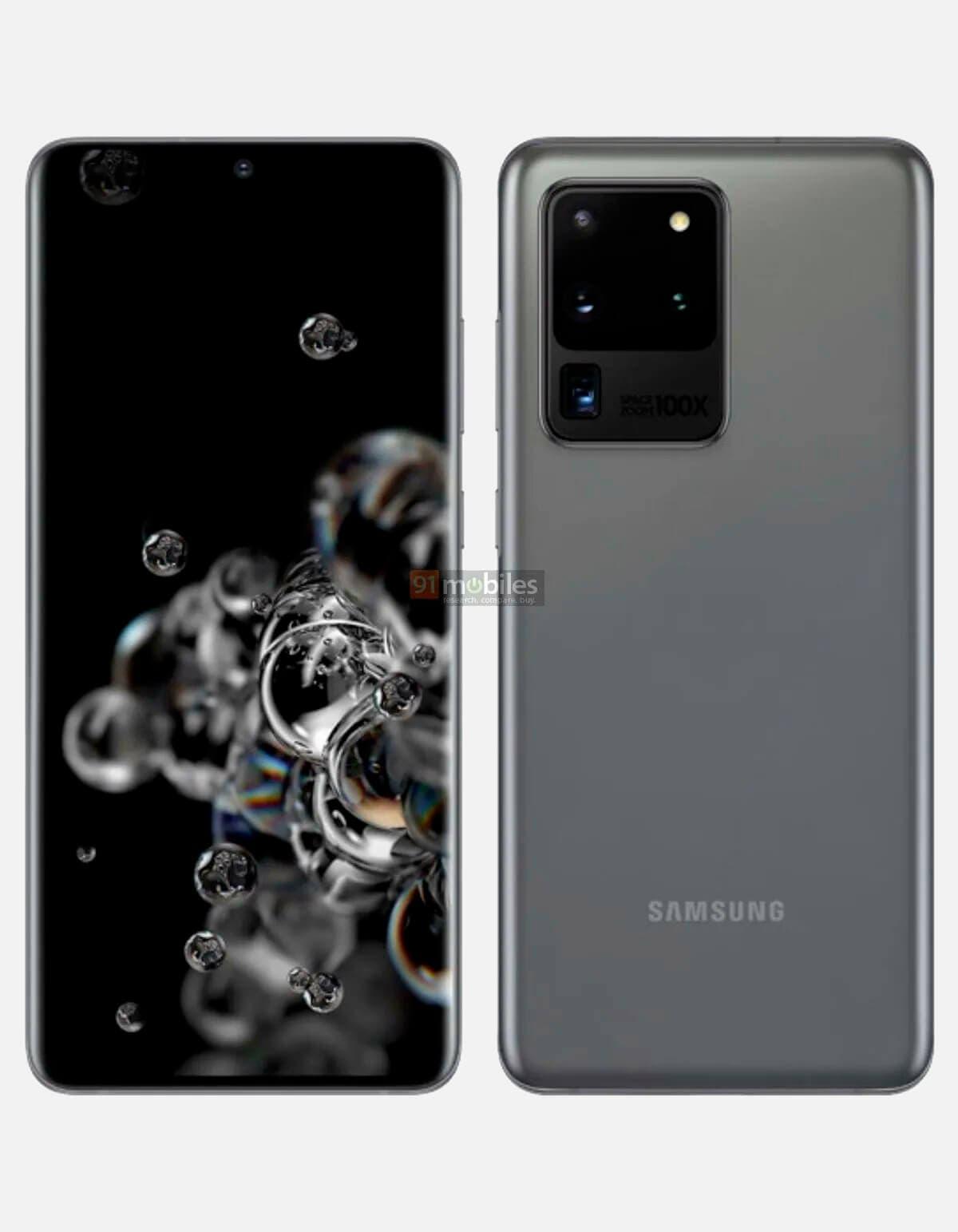Samsung Galaxy S20 Ultra gris