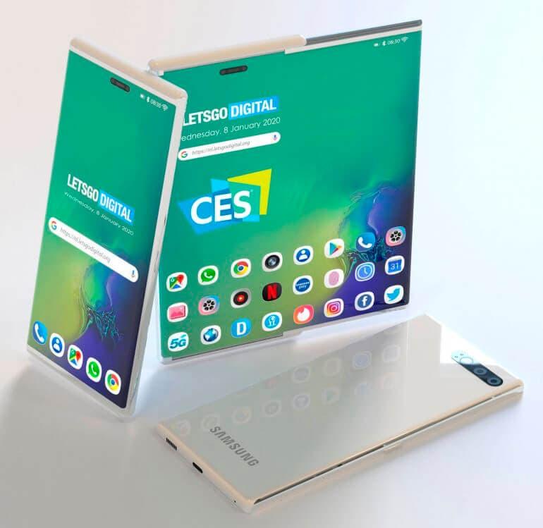 Samsung teléfono enrollable