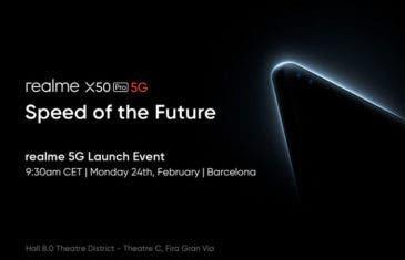 El Realme X50 Pro 5G se presentará en el MWC 2020