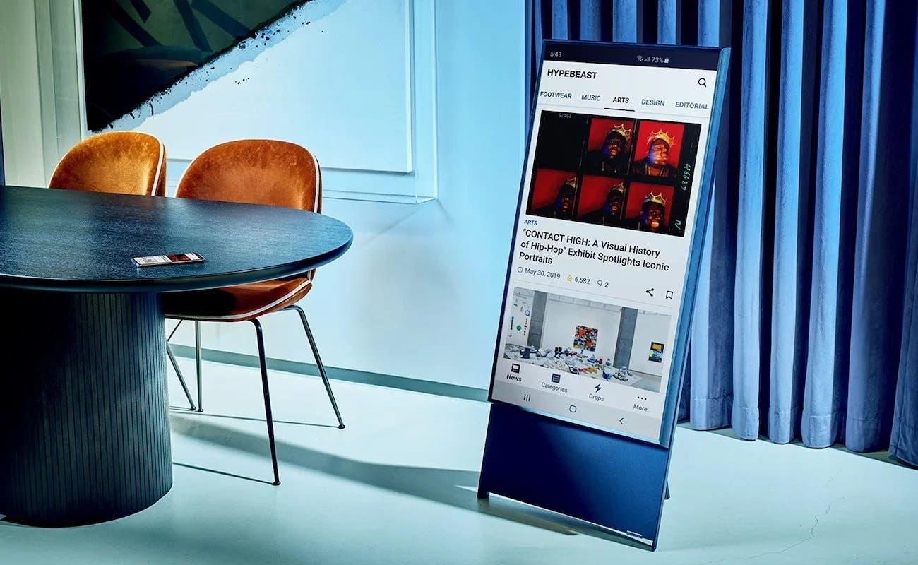 Samsung Sero, el televisor perfecto para ver TikTok o las historias de Instagram
