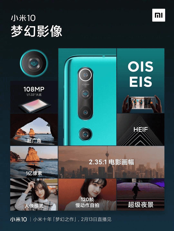 Cámara del Xiaomi Mi 10