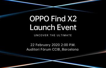 El Oppo Find X2 se presentará justo antes del MWC 2020