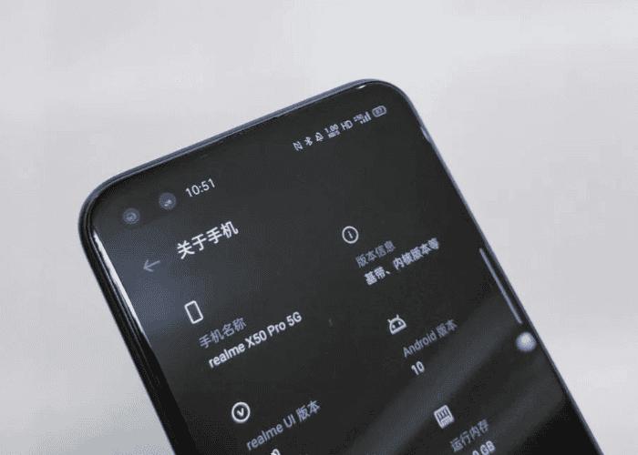 Filtrada la primera imagen real del realme X50 Pro 5G con características